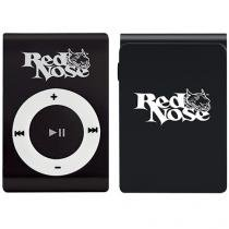 MP3 Player Red Nose Force You Sound - com Cartão 4GB - Preto