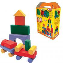 Multi Blocks Coloridos com 50 Peças em Madeira 52821 - Xalingo - Xalingo