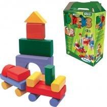 Multi Blocks Mix com 50 Peças em Madeira 52832 - Xalingo - Xalingo