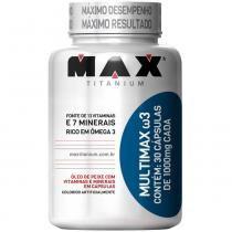 Multimax W3 com 30 Cápsulas - Max Titanium - Natural - Max Titanium