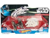 Nave Star Wars Hot Wheels 2 Peças Mattel - TIE Fighter vs. Millenium Falcon