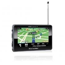 "Navegador GPS Multilaser Tracker III Tela 4.3"" Preto TV Digital - GP034 - Neutro - Multilaser"