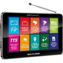 """Navegador GPS Multilaser Tracker III Tela 7"""" TV Digital Transmissor FM - GP038 - Neutro - Multilaser"""