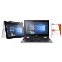"""Notebook 2 em 1 Acer Aspire R11 Intel Quad Core - 4GB 1TB LED 11,6"""" Touch Screen + Pacote Office 365"""