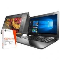 "Notebook 2 em 1 Lenovo Yoga 500 Intel Core i3 - 4GB 500GB LED 14"" Touch Screen + Pacote Office 365"