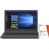 """Notebook Acer Aspire E5 Intel Core i5 - 4GB 1TB LED 15,6"""" + Pacote Office 365"""