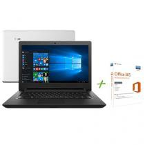 "Notebook Lenovo Ideapad 110 Intel Dual Core - 4GB 500GB LED 14"" Windows 10 + Office 365 Personal"