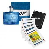 Ocean Royale Eau de Toilette James Bond - Kit de Perfume Masculino 50ml + Jogo de Cartas - James Bond