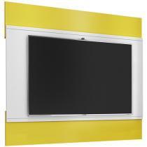 """Painel para TV até 42"""" Bali Amarelo e Branco - Móveis Bechara"""