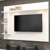 """Painel para TV até 50"""" Moema 3 Prateleiras - 2 Luminárias LED Made Marcs"""