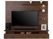"""Painel para TV de até 65"""" Greco 3 Prateleiras - com luminária de LED Dj móveis"""