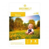 Papel Fotográfico Adesivo Glossy 180g Greenbelt A4 20 Folhas - GreenBelt