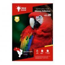 Papel Fotográfico Glossy Adesivo A4 115g Crie Sempre 20 folhas - Crie Sempre