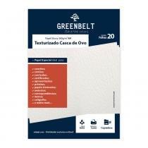 Papel Texturizado Casca de Ovo A4 260g Greenbelt 20 folhas - GreenBelt