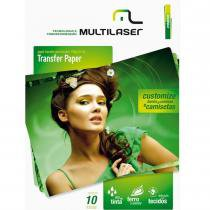 Papel Transfer para Tecidos 130g/m2 A4 10 Folhas PE020 - Multilaser - Multilaser
