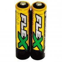 Par de Pilhas Recarregáveis AA 2500Mah FX-AA25LB2 - Flex - Flex