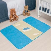 Passadeira Big Urso Baby Azul Turqueza - Colorido - Guga Tapetes