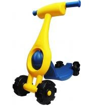 Patinete Infantil 4 Rodas Scooter Dobrável 152A GGBplast - Azul / Amarelo - GGBplast