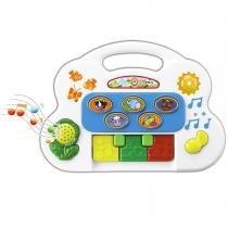 Piano Musical Infantil com Sons Eletrônico 6406 - Braskit - Braskit