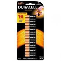 Pilha Alcalina AAA Pequena com 16 unidades - Duracell - Duracell