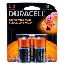 Pilha Alcalina Média C com 2 unidades - Duracell - Duracell