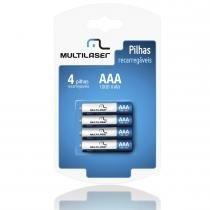 Pilhas Recarregaveis AAA 1000mAH com 4 Unidades CB050 - Multilaser - Multilaser