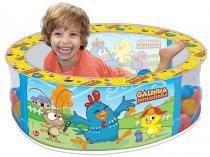 Piscina de Bolinhas Galinha Pintadinha - 100 Bolinhas Líder Brinquedos