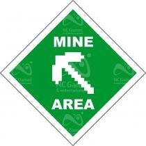 Placa Gamer: Minecraft Mine Area - LEGIAO NERD