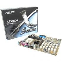 Placa Mãe Asus Socket A7V8X-X AMD Barton - Thoroughbred /Athlon XP/ Athlon/Duron 2.25