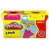 Play-Doh Massinha 2 Cores Rosa e Amarela - Hasbro - Play-Doh