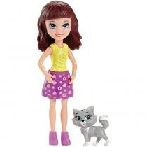 Polly Boneca Lila com Bichinho - Mattel - Polly Pocket