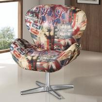 Poltrona Decorativa Tecido - American Comfort Elisa