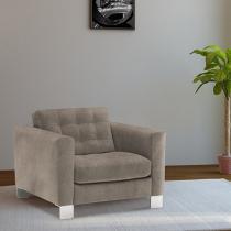 Poltrona Decorativa Tecido - Softaly