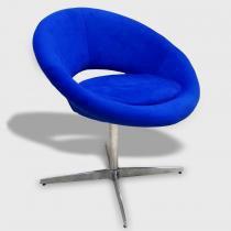 Poltrona Giratória Cibele 1015 Azul - Markine Mobilier - Azul - Markine Mobilier