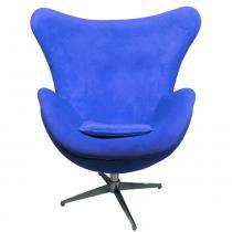 Poltrona Giratória Egg 1015 Azul - Markine Mobilier - Azul - Markine Mobilier