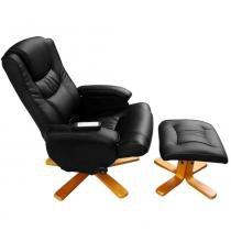 Poltrona Massageadora Leisure Chair com Apoio de Pernas SX-7650 - RelaxMedic - Relaxmedic