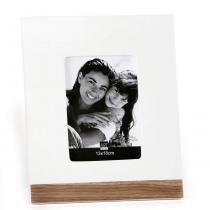Porta Retrato Base 13X18 cm Branco e Louro-Pardo Art Image - Art Image