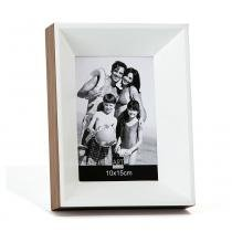 Porta Retrato Peace 10X15 cm Branco e Louro-Pardo Art Image - Art Image