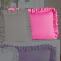 Porta Travesseiro Anabelle Pink - Markine - Branco - Sulamita