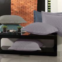 Porta Travesseiro Unique com 3 Abas de 5 cm - Altenburg - Cinza Purple - Altenburg