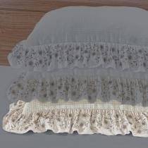 Porta Travesseiro Vintage Kaki - Markine - Branco - Sulamita