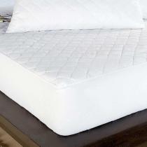 Protetor de Colchão Impermeável Solteiro Branco - Markine - Branco - Sulamita