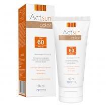 Protetor Solar Facial com Cor de Base Fps60 Actsun Color - Protetor Solar - 60ml - Actsun