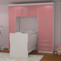 Quarto Modulado Infantil 6 Portas 3 Gavetas - Móveis Rodial