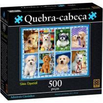 Quebra-Cabeça 500 Peças Adoráveis Cãezinhos - Grow