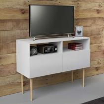 Rack Multiuso Bello Branco para Tv de 32 Polegadas - Marrom - Estilare