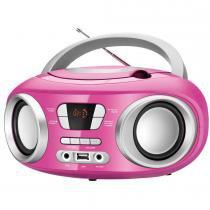 Rádio 6W CD/FM/MP3/USB Bivolt BX-15 Rosa - Mondial - Mondial