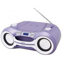 Rádio Boombox MP3/USB Bluetooth PB121BTL Lilás Bivolt - Philco - Bivolt (Manual) - Philco