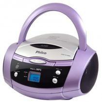 Rádio Estéreo Boombox com Display Digital PH61L Lilás - Philco - Bivolt (Manual) - Philips