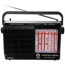 Rádio Portátil AM/FM 7 faixas RM-PFT 74AC Motobras